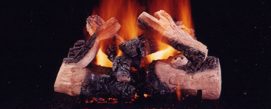 Flame Connection Gas Logs